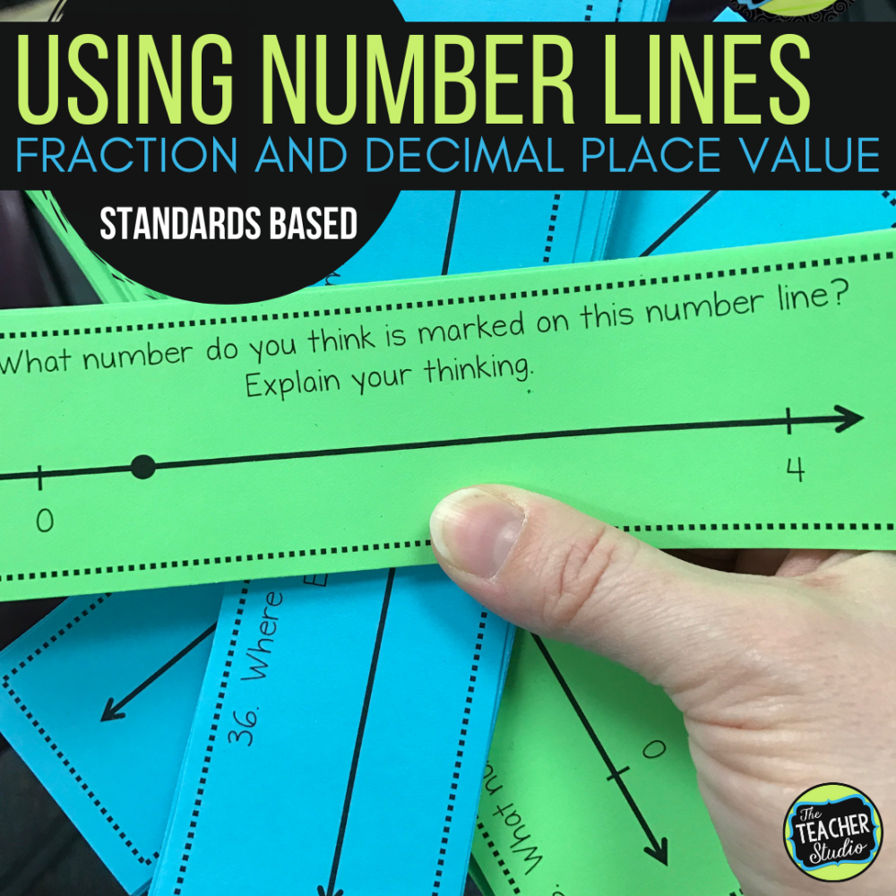 teaching fraction number lines